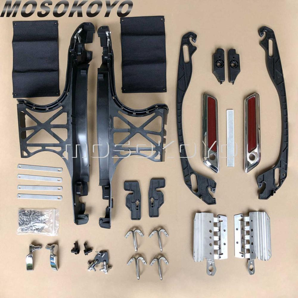 1 Set Motorcycle Saddlebag Latch Lids Hardware Cover One Touch Saddle Bag Latch Kit w/Lock for Harley Touring FLHT 2014-UP1 Set Motorcycle Saddlebag Latch Lids Hardware Cover One Touch Saddle Bag Latch Kit w/Lock for Harley Touring FLHT 2014-UP