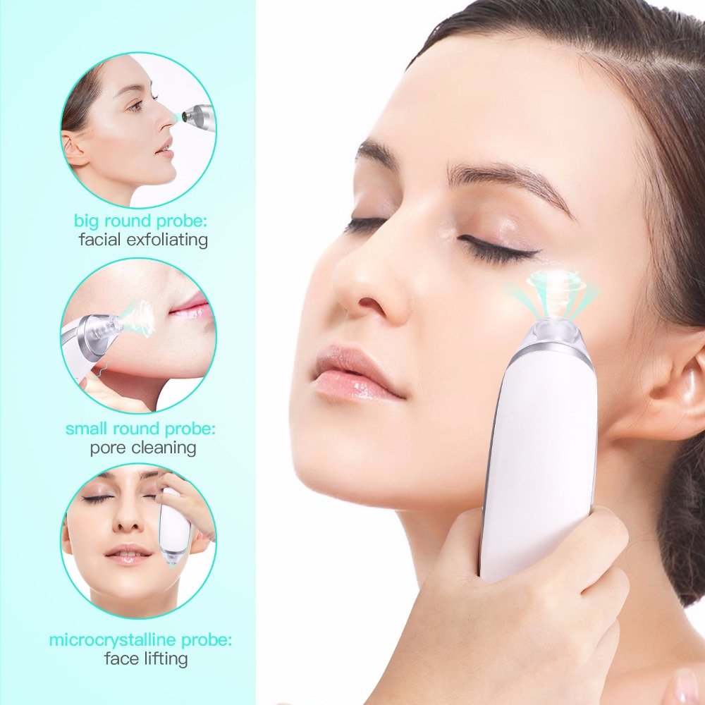 Skin Care Pore Vacuum Blackhead Remover Acne Pimple Removal Vacuum Suction Tool Face Clean Facial Machine skin care pore vacuum blackhead remover acne pimple removal vacuum suction tool comedone extractor deep cleansing beauty machine