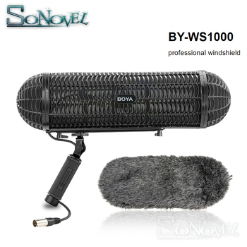 Boya BY-WS1000 Microphones Blimp Windshield Suspension System for Shotgun Mic for Canon Nikon Sony DSLR Camcorder Recorder