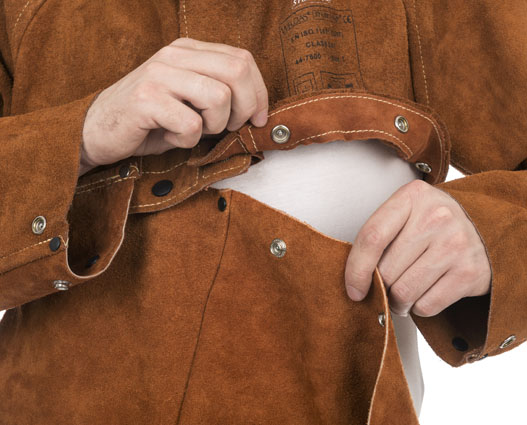 Split Cow Leather Welder Apron Flammhemmende Cow Leather Welding - Schutz und Sicherheit - Foto 5