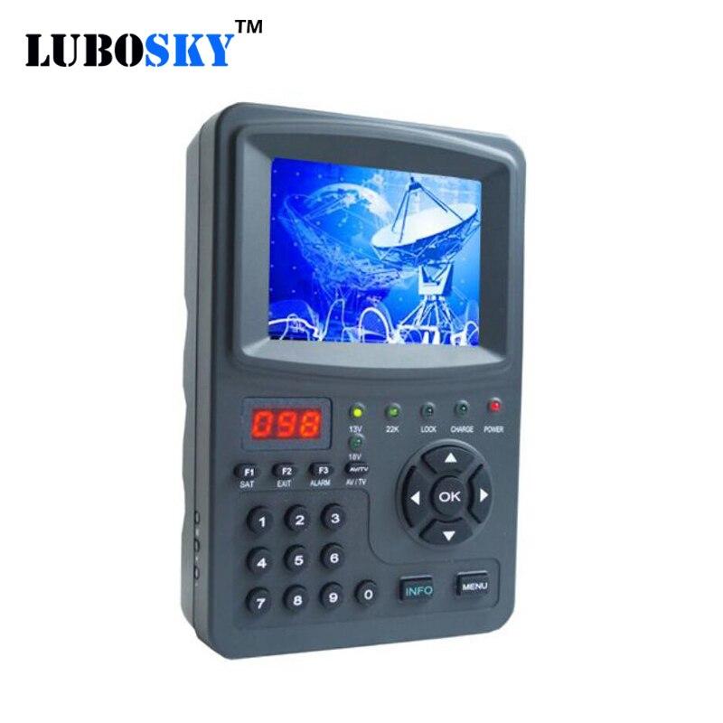 Цифровой ТВ-тюнер цифровой спутниковый искатель сигнала метр 3,5 дюймов sk-968g ручной Buscador de satelites Misuratore di segnale