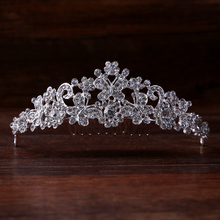 Luxurious rhinestone crystal small hair tiara crown FORSEVEN bridal hair jewelry wedding hair accessories free shipping 16531-16