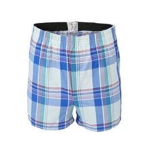 Image 3 - 5 Pcs Heren Ondergoed Boxers Shorts Casual Katoen Slaap Onderbroek Kwaliteit Plaid Losse Comfortabele Homewear Gestreepte Pijl Slipje