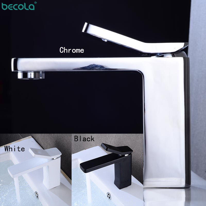 BECOLA Guard Style Faucet Chrome And Black Faucet Cold And Hot Water Basin Faucet Basin Sink