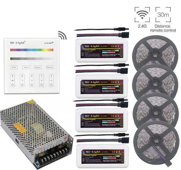 5 ~ 20m 5050 RGB Led Strip Light + Mi.Light RGB Led Controlador + - Iluminación LED