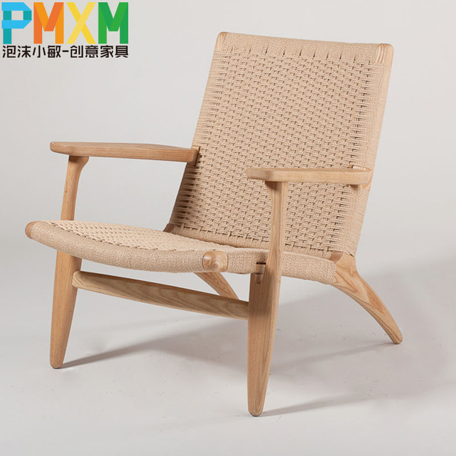 Completely new Upscale casual recliner chair simple and stylish handmade woven  PL33