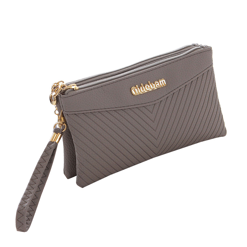 87cd5bba01 Double Zipper Design Female Clutches Bag Soft Clutch Bags For Women  Multifunction PU Leather Ladies Party Business Bag