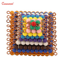 Montessori Bead Colored Squares Maths Toys Games Materials Teaching Education 1-10 Number Practice Kids  Preschool MA121-3