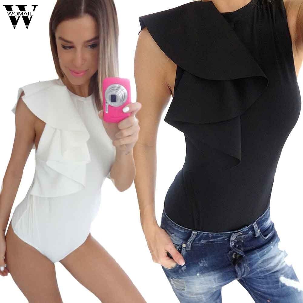 Womail Bodysuit Women Summer Fashion Casual Sexy Bodysuit Short Elegant Jumpsuit Romper Zipper Bodysuit Top New  M6