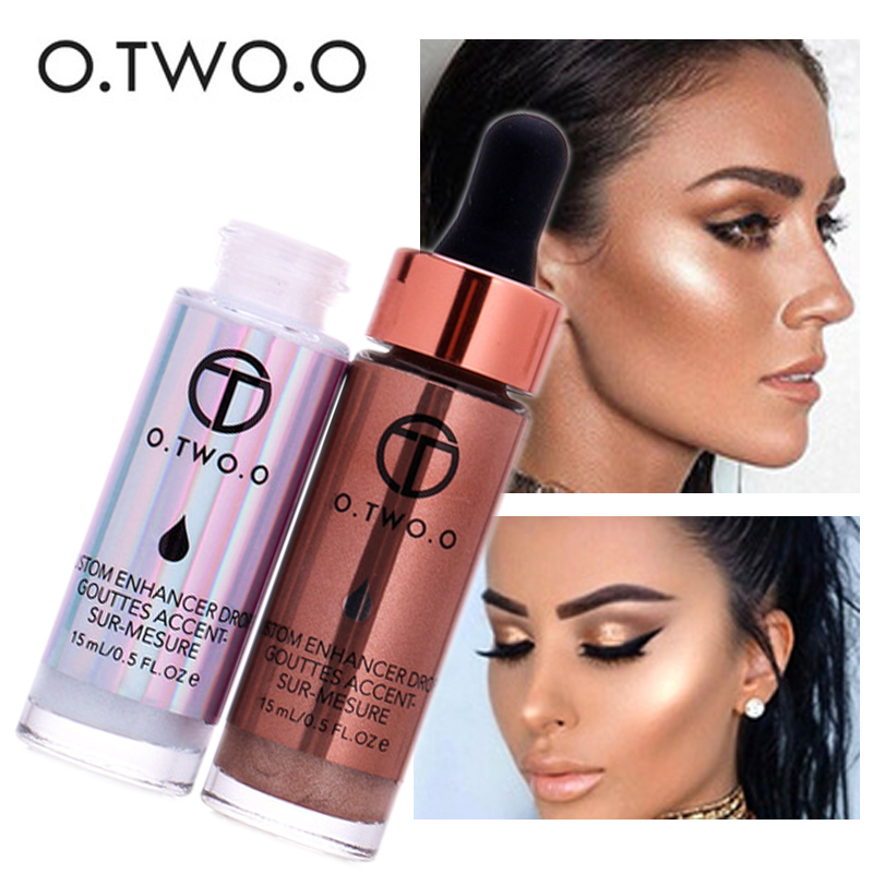 все цены на 2017 New Contouring Liquid Highlighter Brand Cosmetic Waterproof Face Contour Shimmer Bronzers Highlighters o.two.o Makeup
