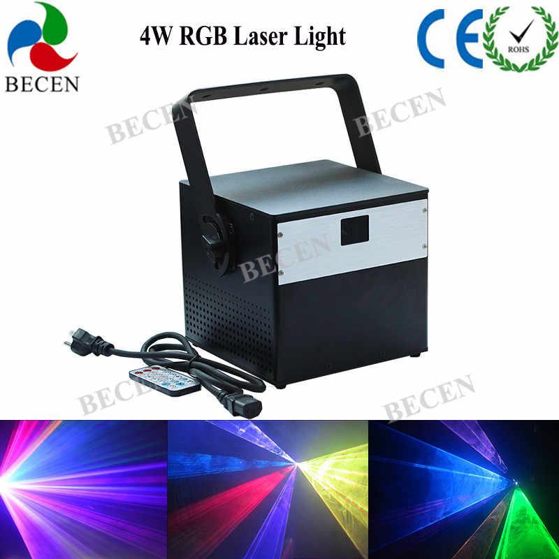 1 шт. пульт дистанционного управления 4000wm RGB анимационный лазер 4 Вт LIDA с эффектом DMX лазерное сценическое освещение