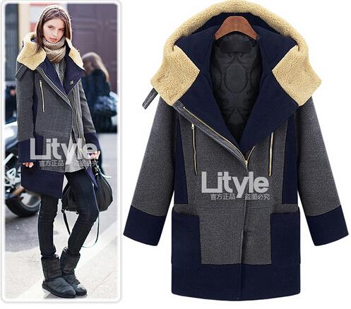 Envío libre más el tamaño xxxl 4xl 5xl 6xl ropa de invierno medio-largo de gran abrigo de lana suelta abrigo de lana marca encabeza grande