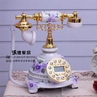 The new rural antique telephone telephone landline rose continental retro retro fashion wedding gifts Decoration home art rustic