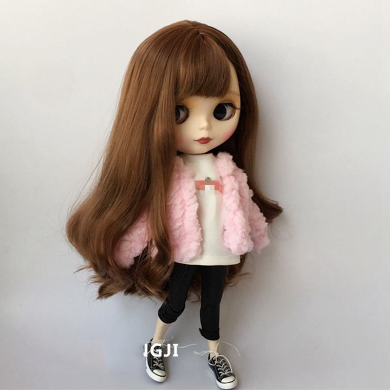 Handmade Colorful 1/6 Doll Coat Fashion Doll Clothing For Pullip Pp Fr St Blyth Clothes 30cm Doll Accessories For Barbie