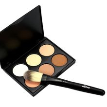 New 6 Colors Contour Concealer Face Cream Makeup Palette With Cosmetic Brush Tools