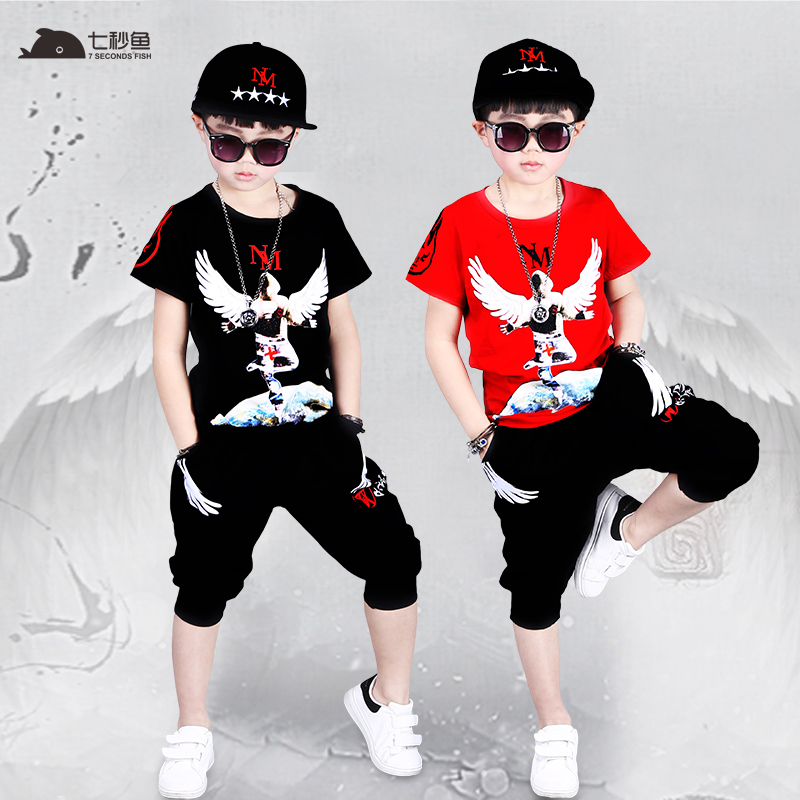 boy clothes summer 2019 kids fashion T shirt pants boys outfits boy summer set kids tracksuit children sport clothes in Clothing Sets from Mother Kids