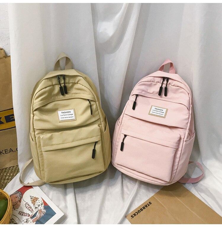 HTB1Hww4cUGF3KVjSZFoq6zmpFXaz 2019 New Backpack Women Backpack Fashion Women Shoulder nylon bag school bagpack for teenage girls mochila mujer