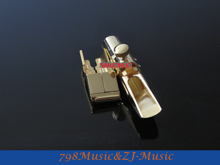 A-7 Model 7#-Professional Metal Alto Saxophone Mouthpiece Gold Plated