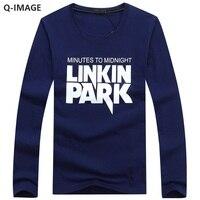 New Spring Autumn Fashion Letter Printing O Neck Long Sleeve Men T Shirt Plus Size 4XL