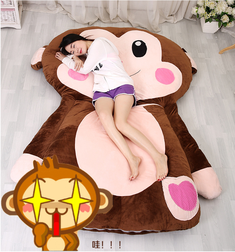 Cartoon Monkey Cartoon mattress, cushion, lovely and comfortable size of Twin Queen Full комплект queen size комплект