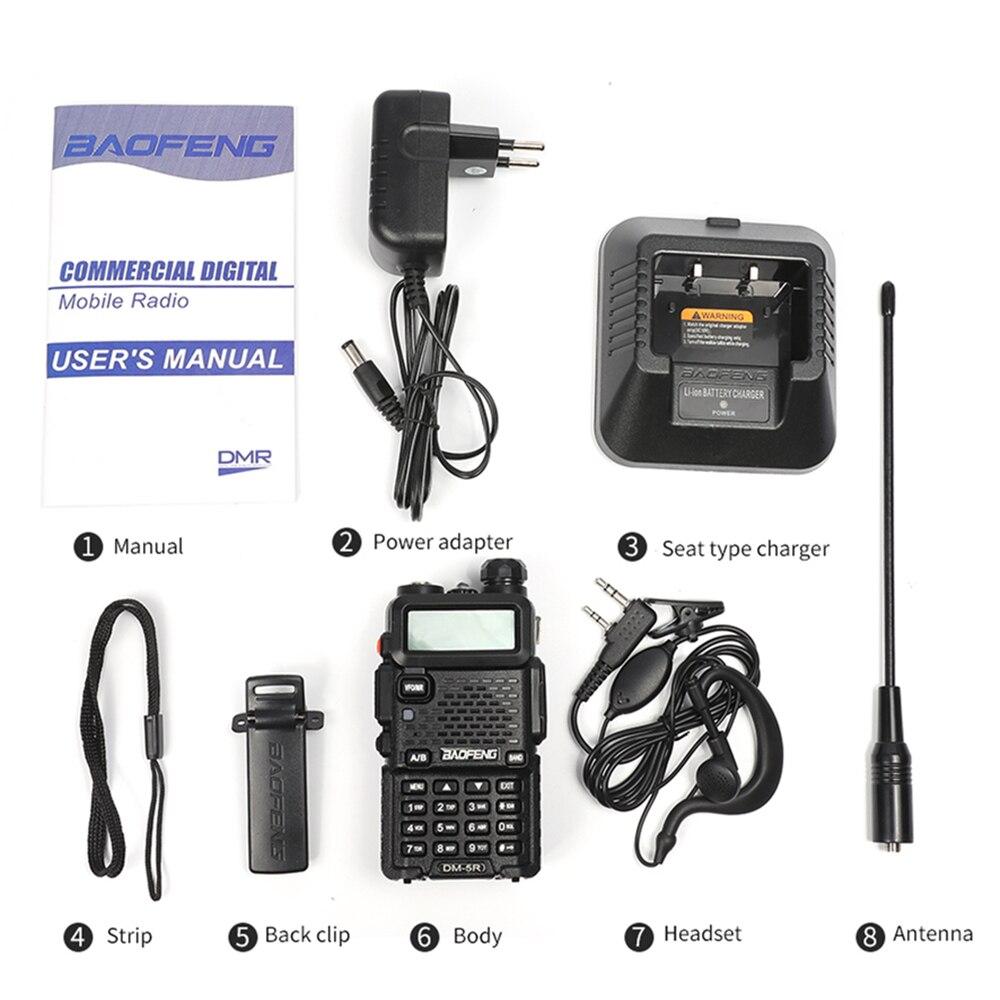 Image 5 - Baofeng DM 5R двухдиапазонный DMR цифровая рация приемопередатчик 5 Вт УКВ 136 174/400 480 МГц большого радиуса действия двухстороннее радио-in Рация from Мобильные телефоны и телекоммуникации