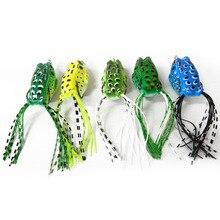 Random Color Hot Sale New Promotions 1 Pcs Mini Soft Plastic Frog Fishing Lure Crank baits Double Claw-Like Hook