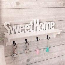 WPC Board Wall Hook font b Rack b font Sweet Home Wall Shelf Clothing Wall Hangers