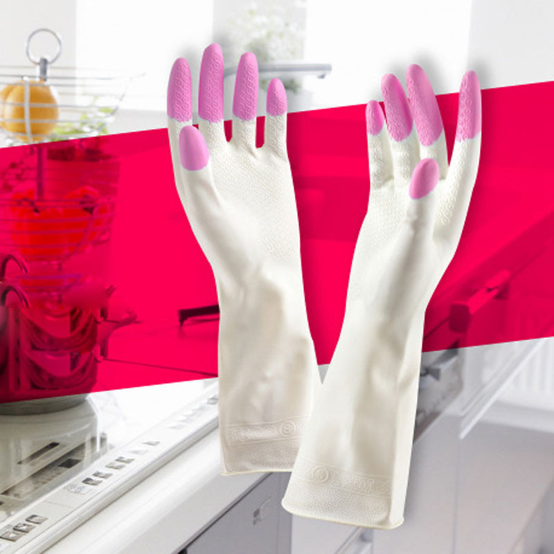 Long Sleeve latex Kitchen Wash Dishes Dishwashing font b Gloves b font font b Household b