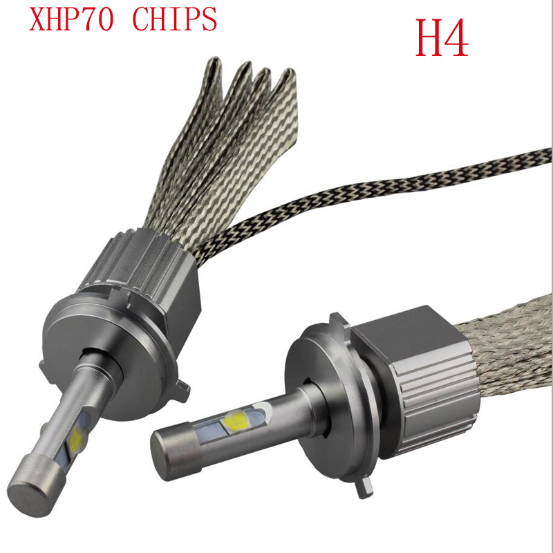 TOYIKIE Newest 110W 13200Lm CREE CHIPS  XHP-70 LED Headlight H4 H7 H8/H9/H11 9005 9006  Car LED Headlight Fog Lamp kit