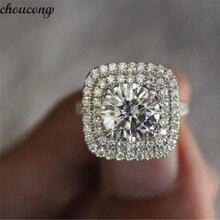 Choucong Manhattan роскошное кольцо из стерлингового серебра 925 пробы фианит AAAAA обручальные Обручальные кольца для женщин Свадебные украшения