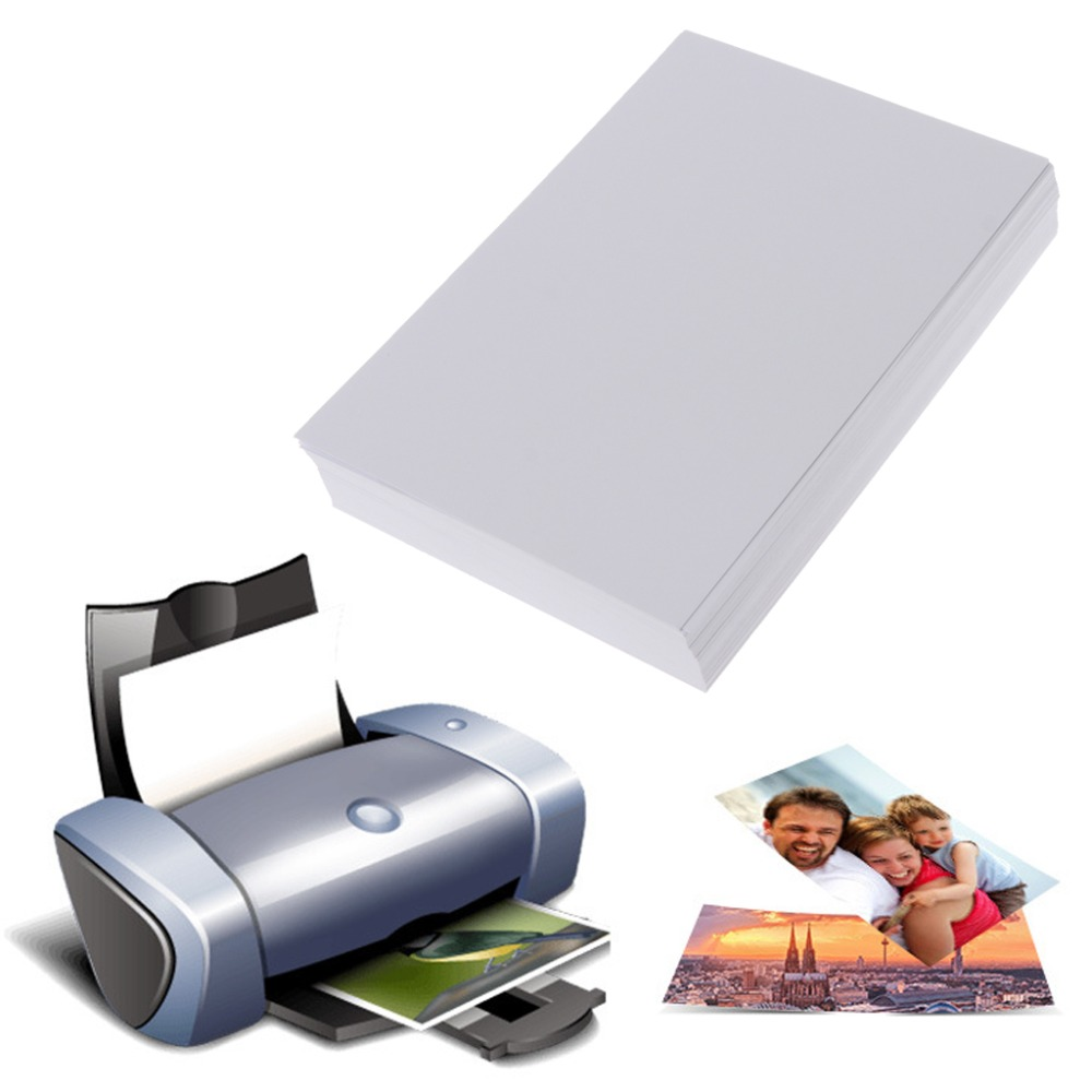 100 Sheets 3R 4R High Glossy Photo Paper For Inkjet Printer Photo Studio Photographer Imaging Printing Paper