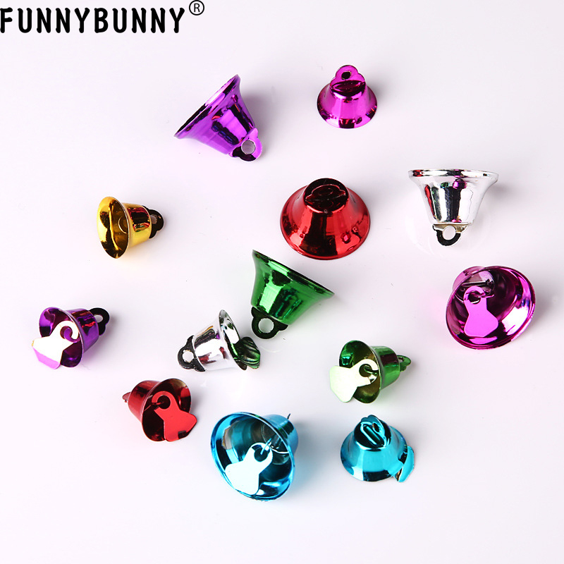 FUNNYBUNNY 5pcs Mixed Color Christmas Jingle Bells Charms Pendants in Christmas Bells from Home Garden