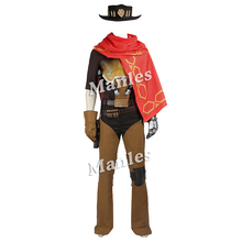 Jesse McCree Cosplay Costumes Hot Game Cosplay Clothing Superhero Props One Set Suit Halloween Party Men