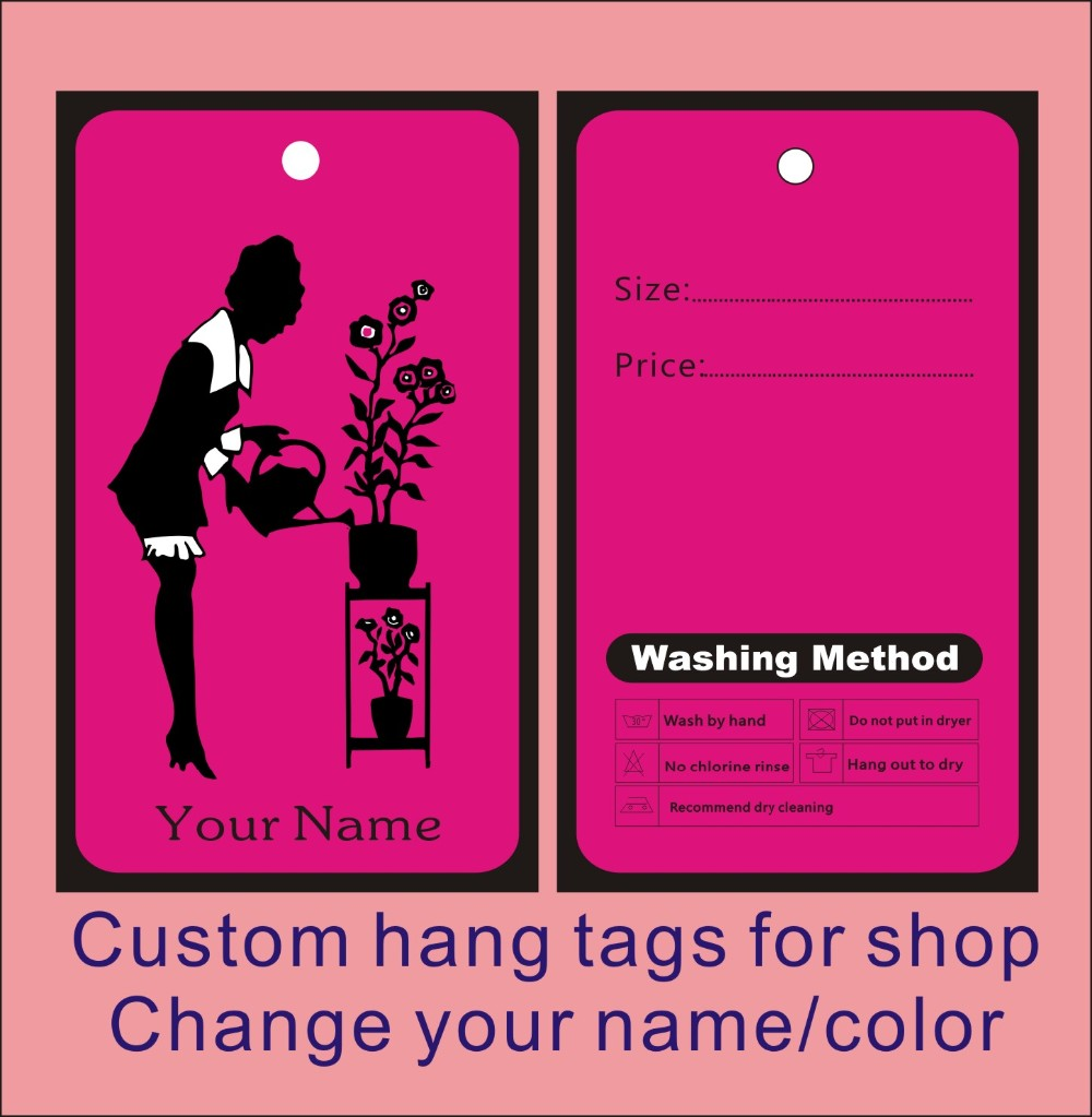 garment hang tags custom print clothes hang tags,fashion hand make price label ,can be print your logo on it template 018