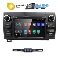 7Inch 2Din HD 1024x600 QuadCore Android 8.1 Car DVD GPS For Toyota Tundra Sequoia 2008 2013 Stereo Radio 4G WiFi OBD DVR DAB CAM