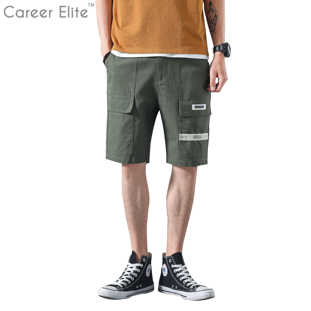Clothing Mens Military Cargo Shorts Men Summer Army Green Short Masculino Cotton Loose Multi-Pocket Shorts Homme Casual Trousers