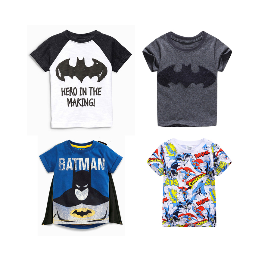 2017 New Brand Boys T Shirt Batman Boys Clothes Kids