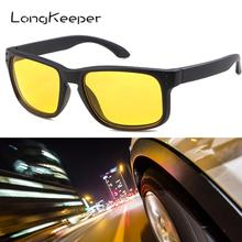 LongKeeper Night Vision sunglasses drivers night-vision safety goggles anti-glare with luminous driving glasses gafas UV400