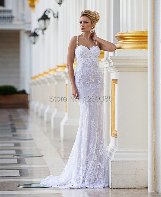 Spaghetti Strap Lace Mermaid Wedding Gowns: Aliexpress.com : Buy Romantic 2016 Delicate Pearls Beaded