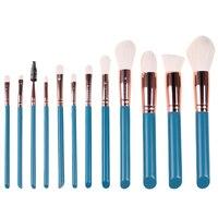 12pcs Green Makeup Brushes Foundation Powder Eye Shadow Brush Cosmetic Tool Complete Kit Makeup Brushes