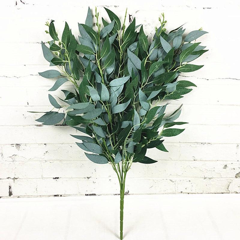 Искусственная ива букет поддельные листья для дома Рождество Свадебные украшения juвечерние GLE партии willow vine искусственная листва растения ...