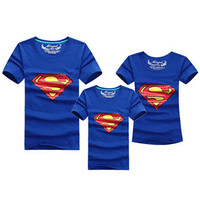 Fashion Superman Family Matching Outfits T Shirt 11 Colors Clothes For Matching Family Clothes Mother Father