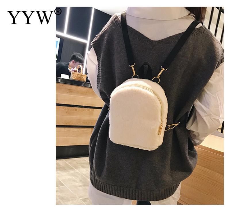 ... Shoulder Bag Girl Women Mini Soft Day. US  18.13. New Winter Women  Hairy Backpacks School Bag Student Plush Backpack Ladies Bags For Teenage Girls  Cute 420ea8c541912