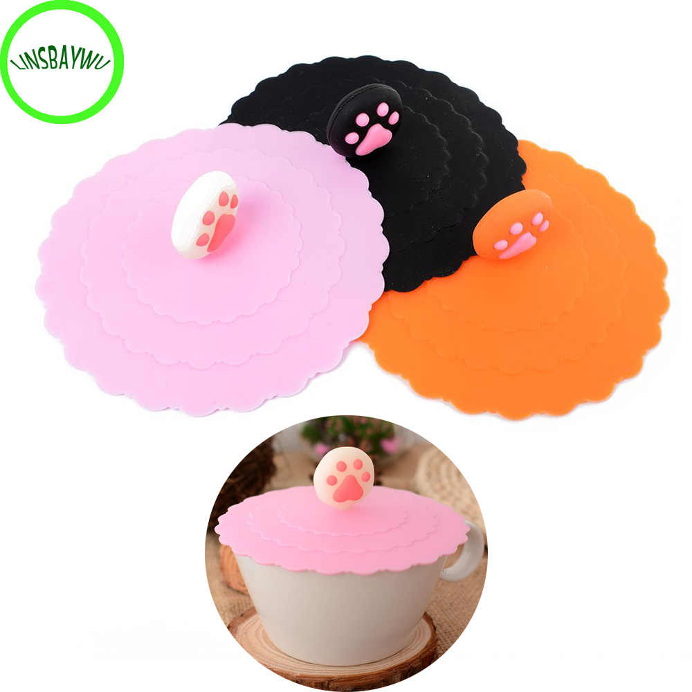 1PC Cup Cover Lip Creative Magical Silicone Leakproof Coffee Cap Airtight Sealed Cup Cover