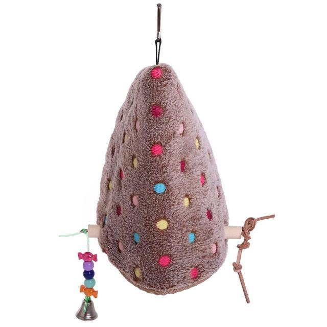parrot Winter Plush Hut Tent Nest Stand Parrot Bed Sleep Parakeet Cage Cave Hanging Decor  Birdhouse for Small  Cockatoo Finch 3