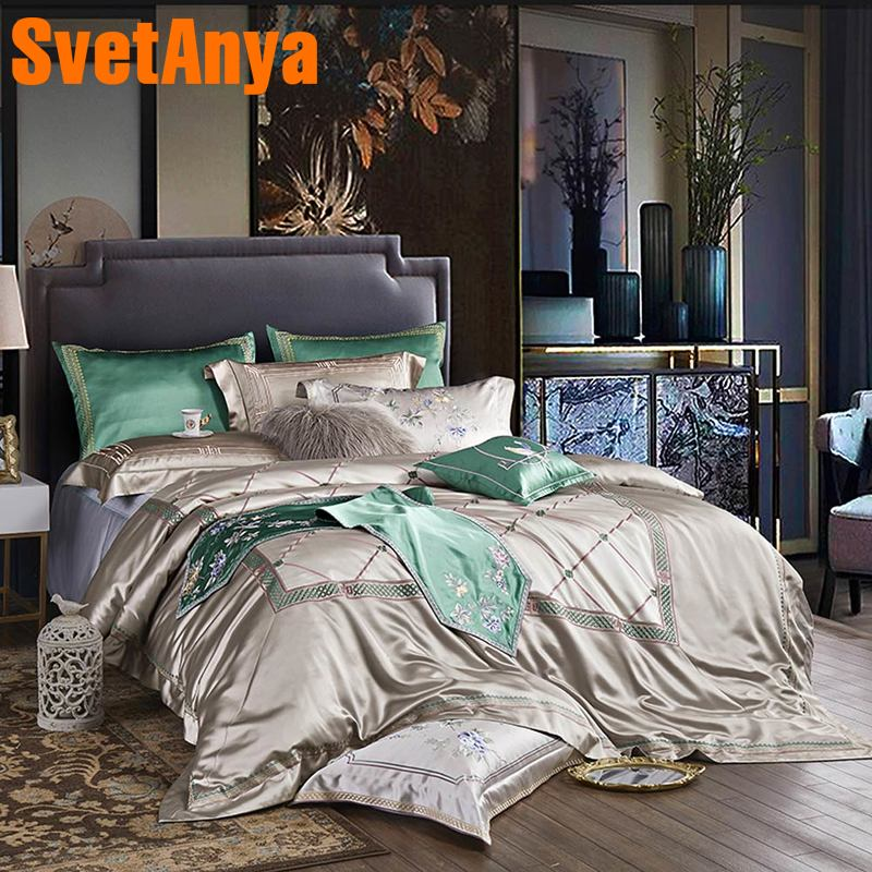 Svetanya luxury Brocade Bedding Set king queen double size Duvet Cover set-in Bedding Sets from Home & Garden