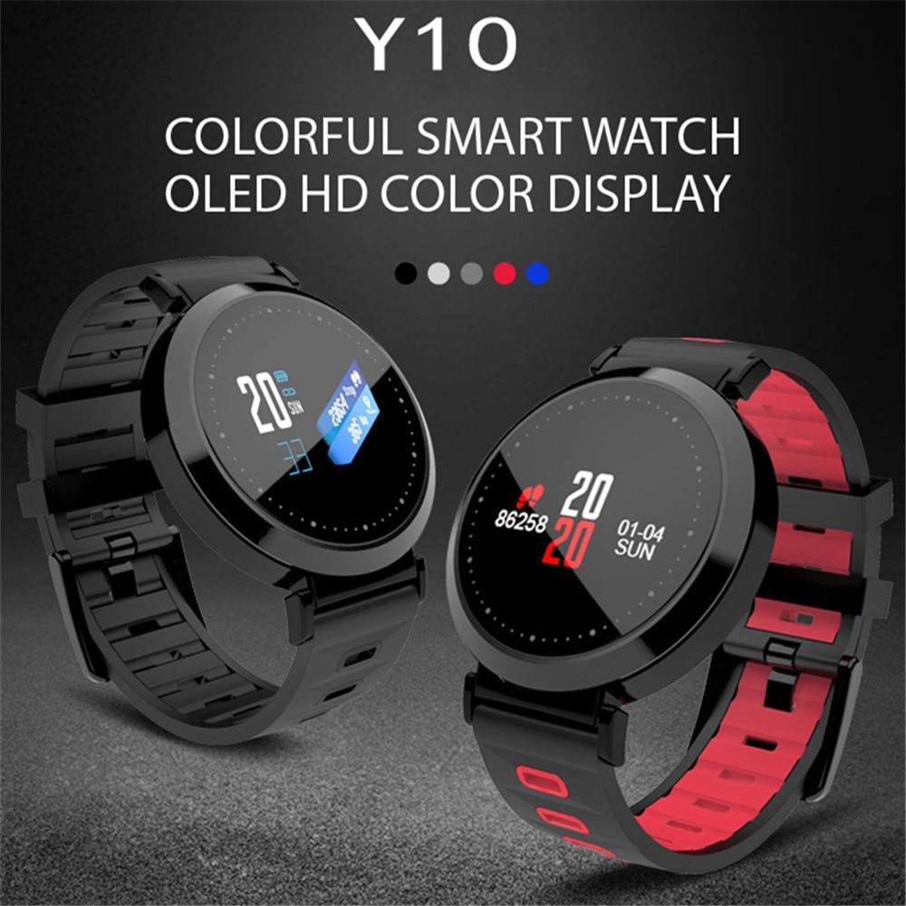 OGEDA Smart Men Watch Bracelet Sports Band Heart Rate/Blood Pressure/Blood Oxygen Monitor Waterproof Wristband Fitness Tracker