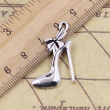 10pcs/lot Charms high heels shoes 31x21mm Tibetan Silver Pendant Antique Jewelry Making DIY Handmade Craft for Bracelet Necklace