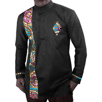 Africa Style Long Sleeve Tops Printed Mens Dashiki Clothes Stand Collar African Shirt Tailored Made Africa