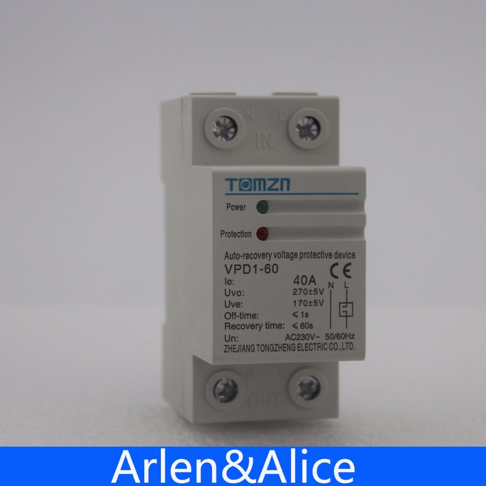40a 230v Din Rail Automatic Recovery Reconnect Over Voltage And Used Circuit Boards Machine Buy Under Protective Device Protector Protection Relay In Breakers From Home